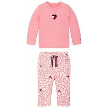 Tommy Hilfiger Baby Printed Set Rosey Pink Heart