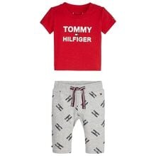 Tommy Hilfiger Baby Printed Set Grey Heather/Racing Red