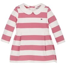 Tommy Hilfiger Baby Rugby Stripe Dress Rosey Pink