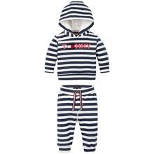 Tommy Hilfiger Baby Striped Hoodie Set Twilight Navy/White