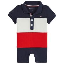 Tommy Hilfiger Baby Colourblock Shortall Black Iris