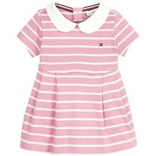 Tommy Hilfiger Baby Rugby Stripe Dress Sea Pink/Bright White