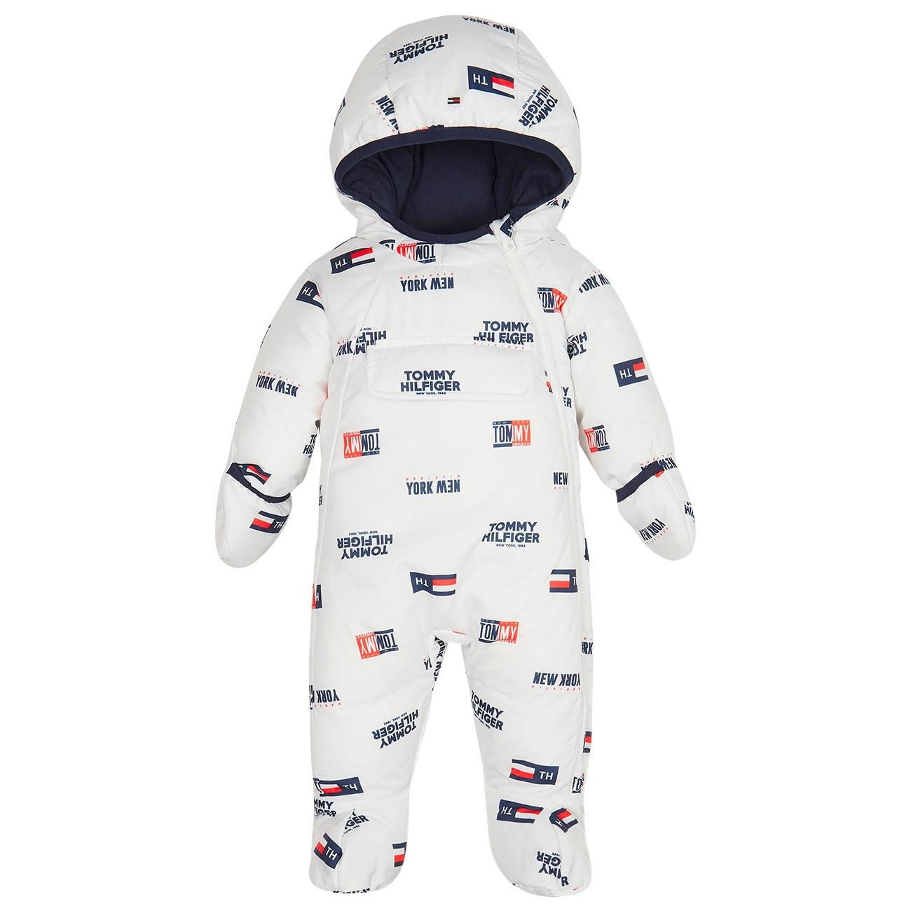 günstig großer Rabatt Veröffentlichungsdatum Tommy Hilfiger Baby Boy Tommy Printed Skisuit Bright White