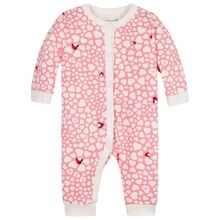 Tommy Hilfiger Baby Printed Coverall Rosey Pink Heart