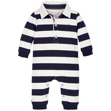 Tommy Hilfiger Baby Rugby Stripe Coverall Twilight Navy/White