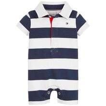 Tommy Hilfiger Baby Rugby Stripe Shortall Twilight Navy