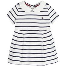 Tommy Hilfiger Baby Rugby Stripe Dress Black Iris/Bright White