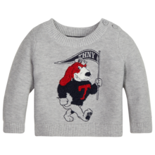 Tommy Hilfiger Baby Boy Doggie Sweater Grey Heather