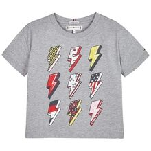 Tommy Hilfiger On Tour T-shirt Mid Grey Heather