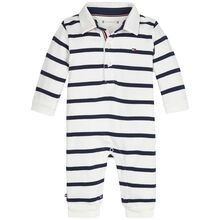 Tommy Hilfiger Baby Rugby Stripe Coverall Black Iris/Bright White
