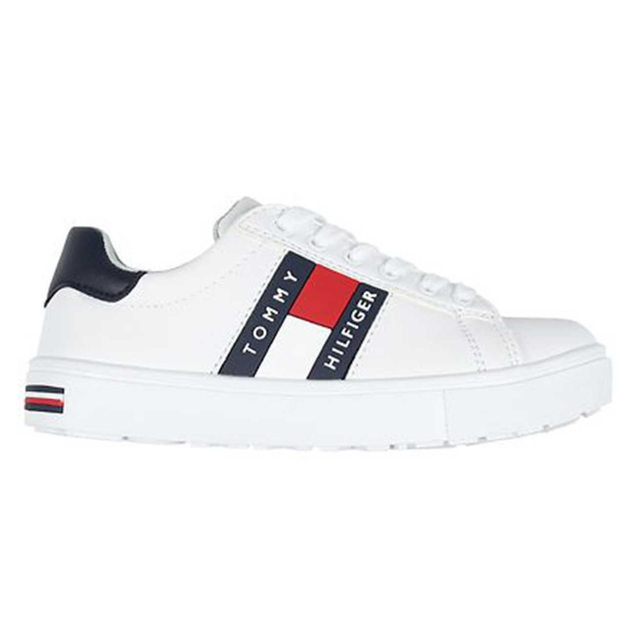 Tommy Hilfiger Low Cut Lace-Up Sneakers White/Blue
