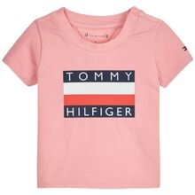 Tommy Hilfiger Baby Flag T-shirt Sea Pink