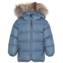 Ver de Terre Featherlight Baby Jacket w. Fur Polar Blue