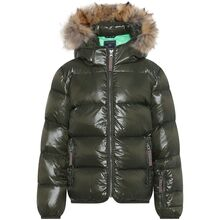 Ver de Terre Featherlight Jacket w. Fur Pine/Parrot