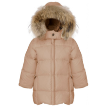 5bf0bf91 Ver de Terre 624 Featherlight Baby Girls Coat w. Fur Mahogany Rose