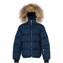 Ver de Terre Featherlight Jacket w. Fur Navy