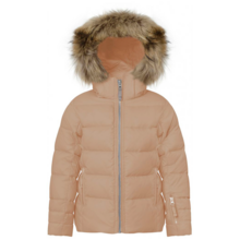 Ver de Terre Featherlight Jacket w. Fur Mahogany Rose