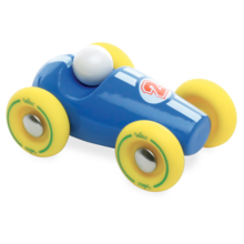 Le Toy Van Mini Racecar Blue/Yellow