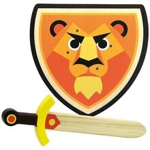 Vilac Wooden Sword and Shield - Lion