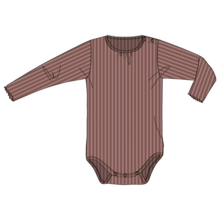 Wheat Baby Wool Rib Plum Melange Body LS