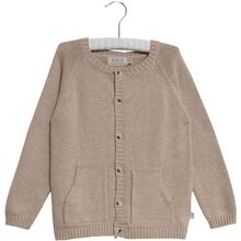 Wheat Melange Sand Knit Cardigan Classic