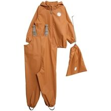 Wheat Weather Rain Jacket and Overall with Braces Golden Camel