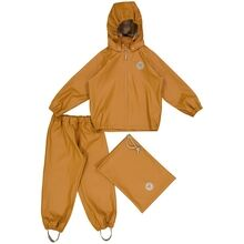 Wheat Charlie Rainwear Jacket and Pants Golden Camel