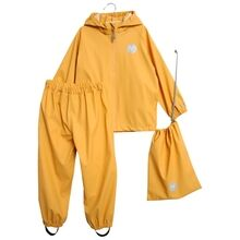 Wheat Charlie Rainwear Jacket and Pants Corn Yellow