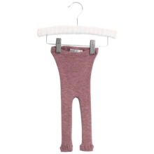 Wheat Baby Wool Rib Plum Melange Leggings