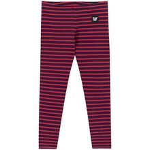 Wood Wood Ira Kids Leggings Navy/Red Stripes