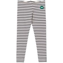 Wood Wood Ira Kids Leggings Off White/Navy Stripes