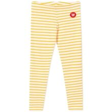 Wood Wood Ira Kids Leggings Off White/Yellow Stripes