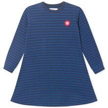 Wood Wood Aya Dress Navy/Blue Stripes