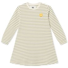 Wood Wood Aya Dress Off White/Olive Stripes