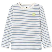 Wood Wood Kim Kids Long Sleeve Blouse Off White/Blue Stripes