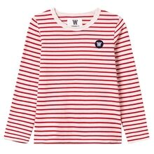 Wood Wood Red Stripes/Off White Kim Kids Long Sleeve Blouse
