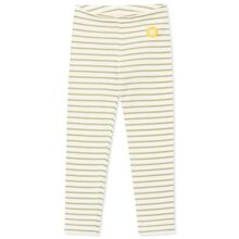 Wood Wood Ira Kids Leggings Off White/Olive Stripes