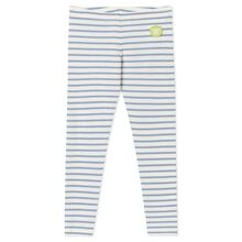 Wood Wood Ira Kids Leggings Off White/Aubergine Stripes