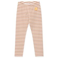 Wood Wood Ira Kids Leggings Off White/Camel Stripes