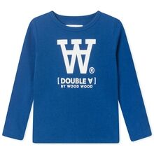 Wood Wood Kim Kids Long Sleeve Blouse Blue