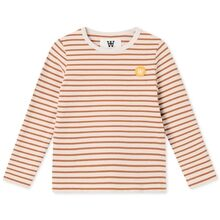 Wood Wood Kim Kids Long Sleeve Blouse Off White/Camel Stripes