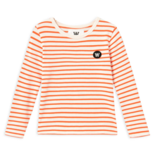 Wood Wood Kim Kids Long Sleeve Off White/Orange Stripes