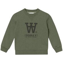 Wood Wood Double A Rod Kids Sweatshirt Army Green