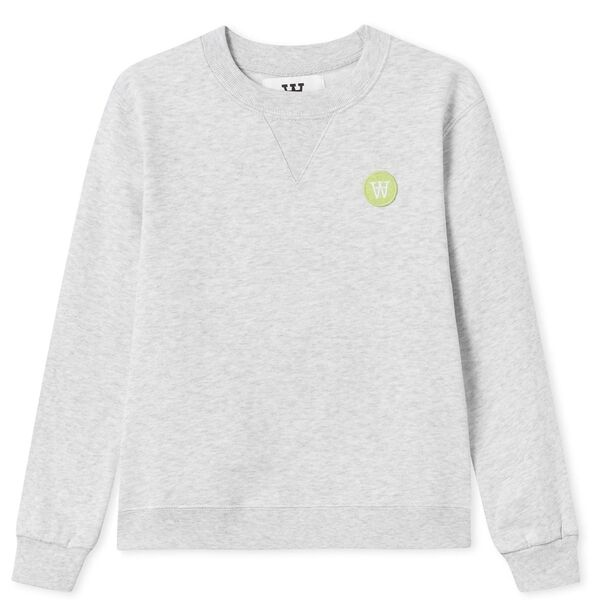 Wood Wood Double A Rod Kids Sweatshirt Light Grey Melange