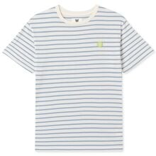 Wood Wood Double A Ola Kids T-shirt Off White/Blue Stripes