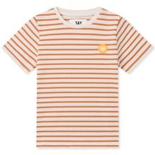 Wood Wood Double A Ola Kids T-shirt Off White/Camel Stripes